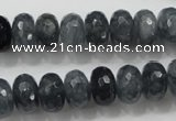 CCN1602 15.5 inches 8*12mm faceted rondelle candy jade beads