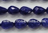 CCN1688 15.5 inches 10*14mm faceted teardrop candy jade beads wholesale