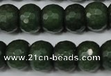 CCN172 15.5 inches 12*16mm faceted rondelle candy jade beads