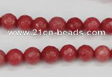 CCN1842 15 inches 8mm faceted round candy jade beads wholesale