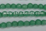 CCN1881 15 inches 6mm faceted round candy jade beads wholesale