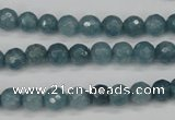 CCN1911 15 inches 6mm faceted round candy jade beads wholesale
