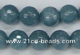 CCN1915 15 inches 14mm faceted round candy jade beads wholesale