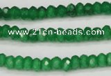CCN1996 15 inches 4*6mm faceted rondelle candy jade beads wholesale
