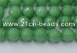CCN2030 15 inches 6mm faceted round candy jade beads wholesale