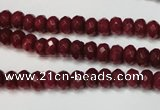 CCN2132 15.5 inches 4*6mm faceted rondelle candy jade beads
