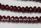 CCN2133 15.5 inches 5*8mm faceted rondelle candy jade beads
