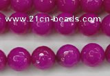 CCN2298 15.5 inches 14mm faceted round candy jade beads wholesale