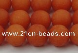 CCN2427 15.5 inches 6mm round matte candy jade beads wholesale