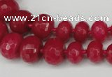 CCN2648 15.5 inches 5*8mm - 12*16mm faceted rondelle candy jade beads