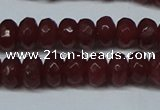 CCN2850 15.5 inches 2*4mm faceted rondelle candy jade beads