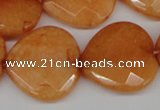 CCN371 15.5 inches 25*25mm faceted heart candy jade beads wholesale
