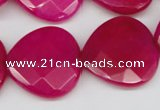 CCN373 15.5 inches 25*25mm faceted heart candy jade beads wholesale