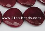 CCN374 15.5 inches 25*25mm faceted heart candy jade beads wholesale