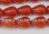 CCN3762 15.5 inches 10*14mm teardrop candy jade beads wholesale
