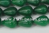 CCN3770 15.5 inches 10*14mm teardrop candy jade beads wholesale