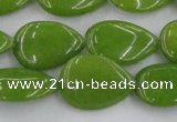 CCN3883 15.5 inches 15*20mm flat teardrop candy jade beads