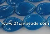 CCN3887 15.5 inches 15*20mm flat teardrop candy jade beads