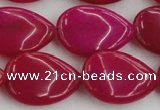 CCN3892 15.5 inches 18*25mm flat teardrop candy jade beads