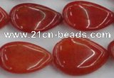 CCN3893 15.5 inches 18*25mm flat teardrop candy jade beads