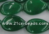 CCN3899 15.5 inches 18*25mm flat teardrop candy jade beads