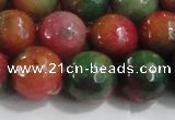 CCN4005 15 inches 14mm faceted round candy jade beads wholesale