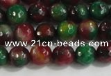 CCN4010 15 inches 6mm faceted round candy jade beads wholesale