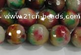 CCN4013 15 inches 12mm faceted round candy jade beads wholesale