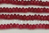 CCN4102 15.5 inches 2*4mm faceted rondelle candy jade beads