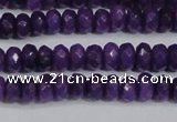 CCN4132 15.5 inches 4*6mm faceted rondelle candy jade beads