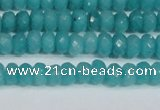 CCN4138 15.5 inches 4*6mm faceted rondelle candy jade beads