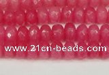 CCN4156 15.5 inches 5*8mm faceted rondelle candy jade beads