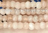 CCN5103 15 inches 3*4mm faceted rondelle candy jade beads