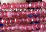 CCN5106 15 inches 3*4mm faceted rondelle candy jade beads