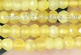 CCN5111 15 inches 3*4mm faceted rondelle candy jade beads