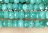 CCN5117 15 inches 3*4mm faceted rondelle candy jade beads