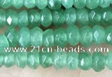 CCN5118 15 inches 3*4mm faceted rondelle candy jade beads