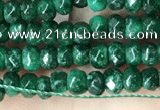 CCN5122 15 inches 3*4mm faceted rondelle candy jade beads