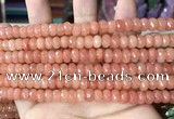 CCN5137 15 inches 5*8mm faceted rondelle candy jade beads