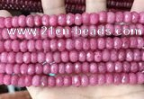 CCN5141 15 inches 5*8mm faceted rondelle candy jade beads