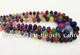 CCN5179 5*8mm - 14*20mm faceted rondelle candy jade graduated beads