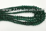 CCN5213 6mm - 14mm faceted round candy jade graduated beads