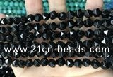 CCN5251 15 inches 8mm faceted nuggets candy jade beads