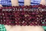 CCN5258 15 inches 8mm faceted nuggets candy jade beads