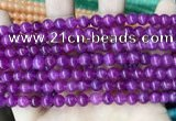 CCN5281 15 inches 6mm round candy jade beads Wholesale