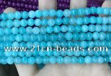 CCN5288 15 inches 6mm round candy jade beads Wholesale