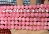 CCN5326 15 inches 8mm round candy jade beads Wholesale