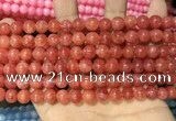 CCN5328 15 inches 8mm round candy jade beads Wholesale