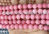 CCN5534 15 inches 8mm round candy jade beads Wholesale