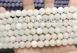 CCN5575 15 inches 8mm round matte candy jade beads Wholesale